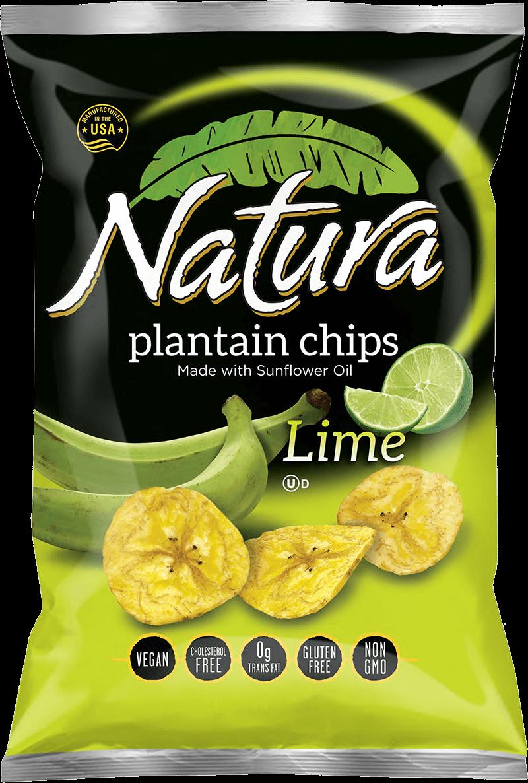 Natura lime chip bag