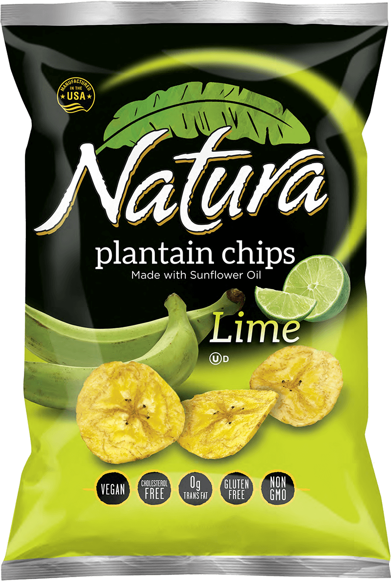 Natura lime chip bag